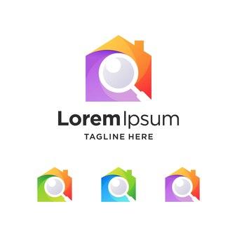 Huisinspectie-logo met kleurverloop