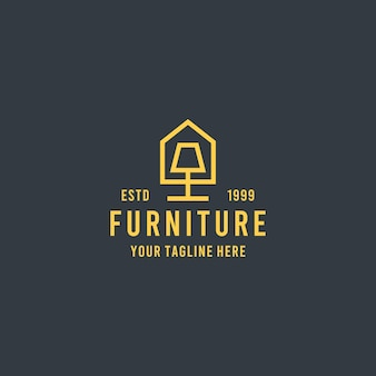 Huismeubilair vlakke stijl ontwerp symbool logo illustratie sjabloon