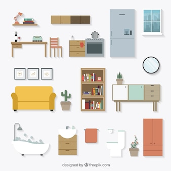Huisraad meubilair pictogrammen