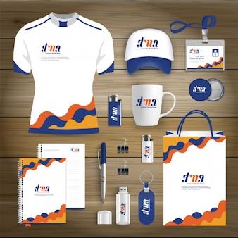 Huisstijl business gift items ontwerpsjabloon mockup