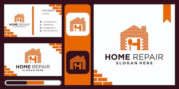 Huisverbetering bedrijfslogo sjabloon real estate