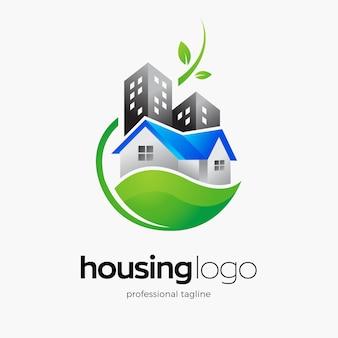 Huisvesting logo sjabloon