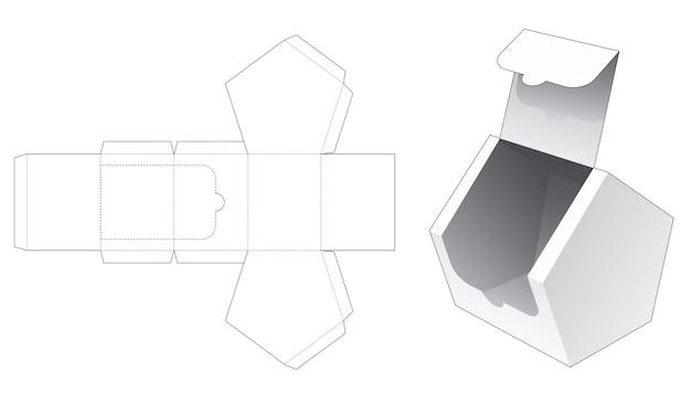 Huisvormige doos gestanst sjabloon met ritssluiting