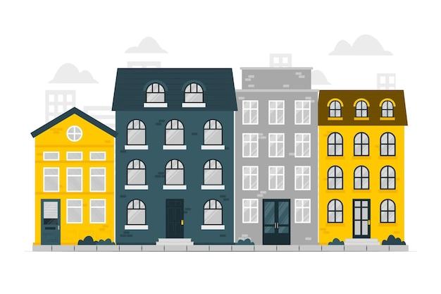 Huizen concept illustratie