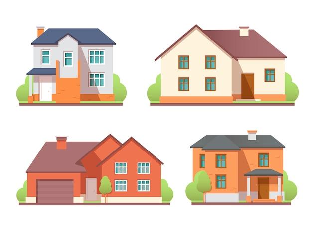 Huizen exterieur set