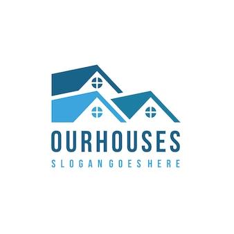 Huizen logo sjabloon