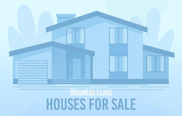 Huizen te koop illustratie