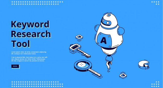 Hulpmiddel voor trefwoordonderzoek met isometrische pictogrammen
