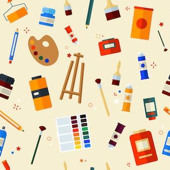 Hulpmiddelen die naadloos patroon schilderen