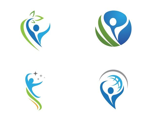 Human character logo teken