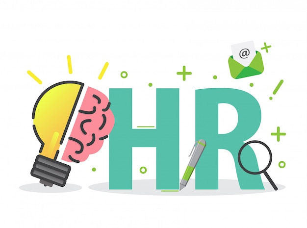 Human resource of hr management infographics element
