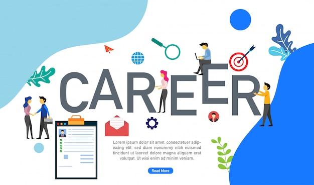 Human resource recruitment concept met kleine mensen karakters