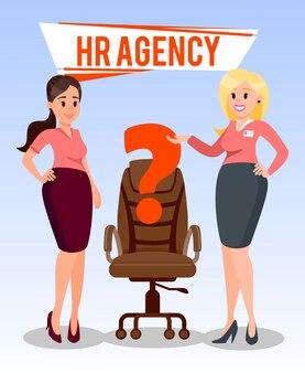 Human resources agency vlakke afbeelding