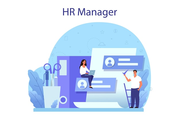 Human resources concept illustratie
