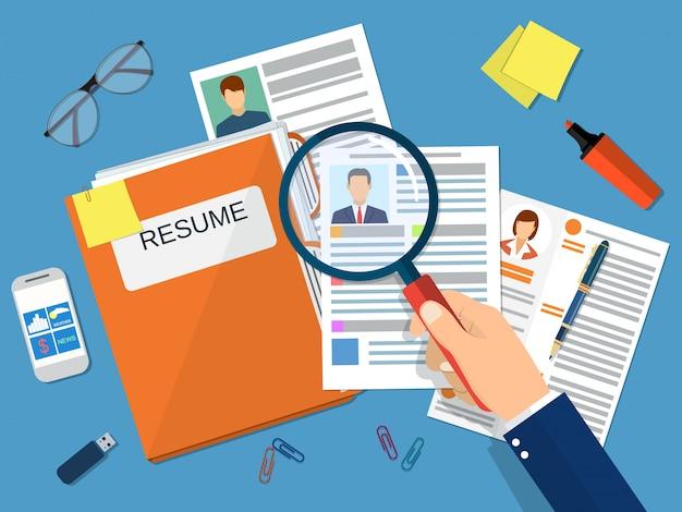 Human resources management concept,
