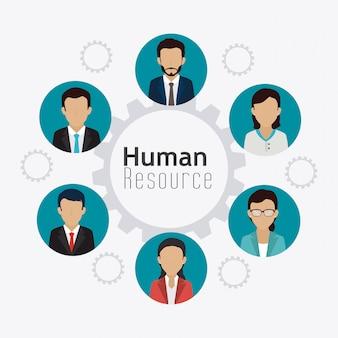 Human resources ontwerp.