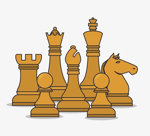 Human resources schaakstukken ontwerp geïsoleerd