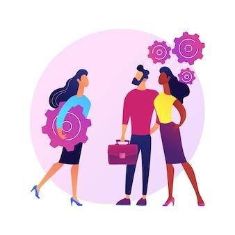 Human resources, talentmanagement. personeel kiezen, personeelswerving, uitzendbureau. professionele hr-managers die nieuwe rekruten selecteren.