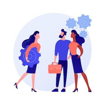 Human resources, talentmanagement. personeel kiezen, personeelswerving, uitzendbureau. professionele hr-managers selecteren nieuwe rekruten concept illustratie