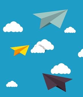 Human resources vliegtuig ontwerp van het document geïsoleerd