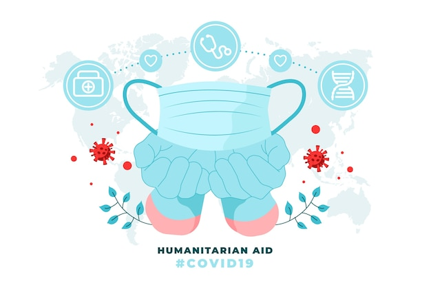 Humanitaire hulp concept