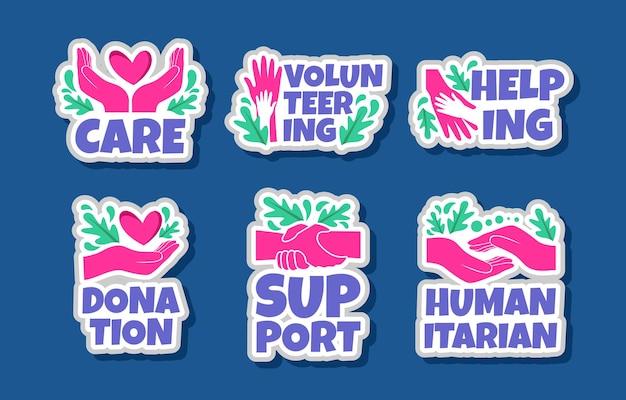 Humanitaire stickersjabloonset