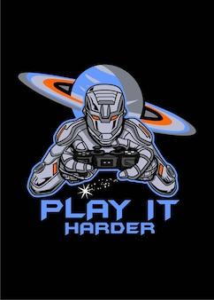 Humanoidde gamer