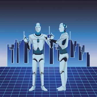 Humanoïde robots avatar
