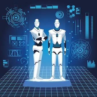 Humanoïde robots avatars