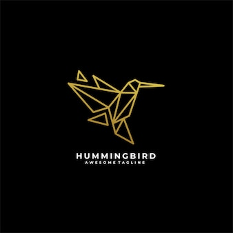 Humming bird line illustratie logo.