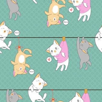 Hunging kattenpatroon.