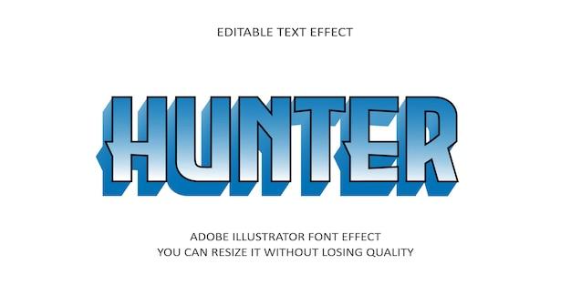 Hunter bewerkbaar teksteffect