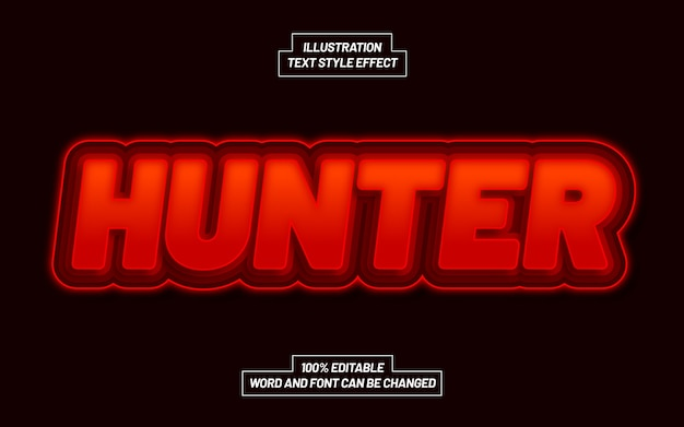 Hunter bold text style effect