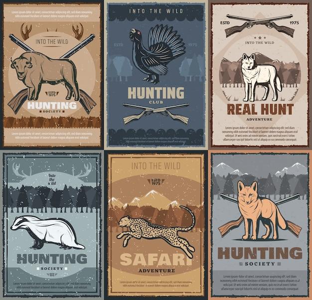 Hunter club, jachtseizoen avontuur wilde dieren