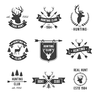 Hunter club logo set.