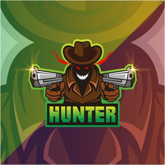 Hunter mascotte logo