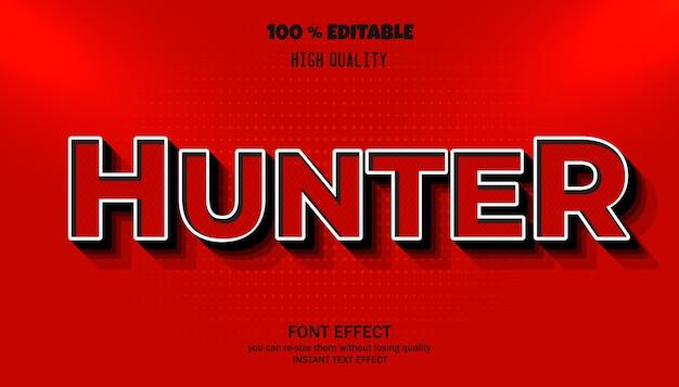 Hunter-teksteffect, bewerkbaar lettertype