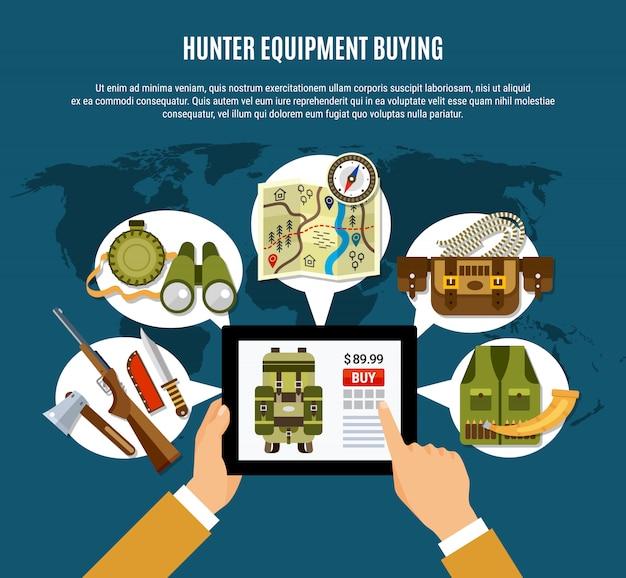 Hunter uitrusting samenstelling
