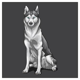Husky cartoon conceptontwerpen