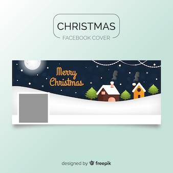 Hutten kerstmis facebook omslag