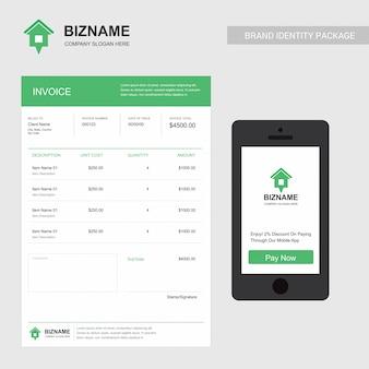 Huur bedrijfsfactuur en mobiele app