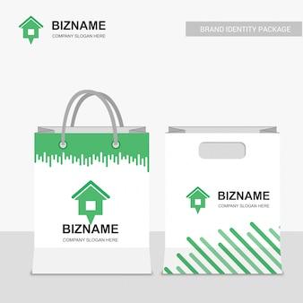 Huur boodschappentas en envelop