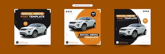 Huur een auto voor social media post-sjabloonverzameling