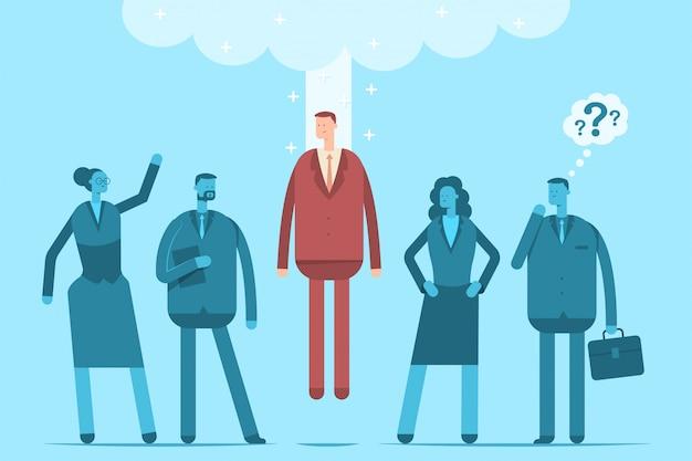 Huur werknemers concept illustratie