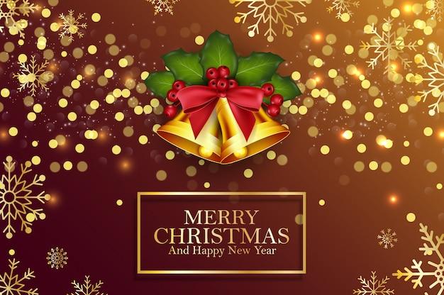 Huw kerstmis en gelukkige nieuwjaarachtergrond