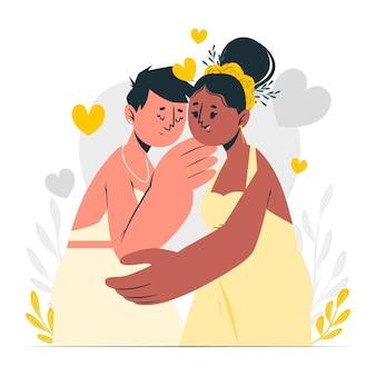 Huwelijk concept illustratie