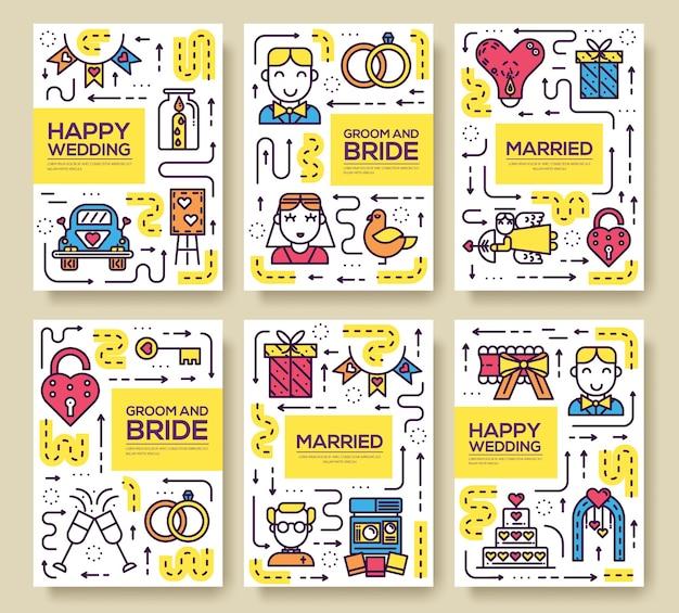 Huwelijk teken sjabloon van flyer