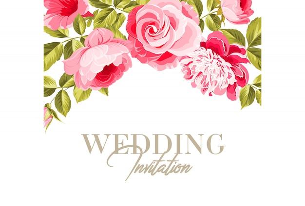 Huwelijk uitnodigingskaart.