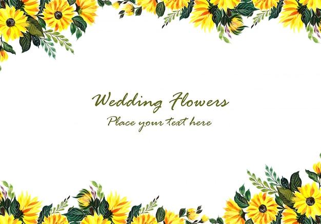 Huwelijks decoratief geel bloemenframe