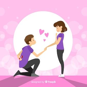 Huwelijksaanzoek concept
